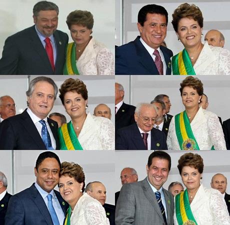 Dilma durante a posse de Wagner Rossi, dia 1º de janeiro