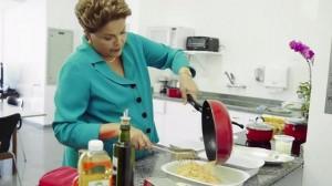Dilma com a mão na massa