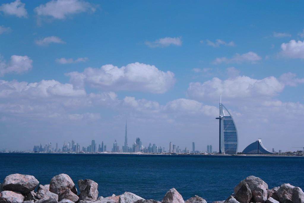 Vista de Dubai, nos Emirados Árabes