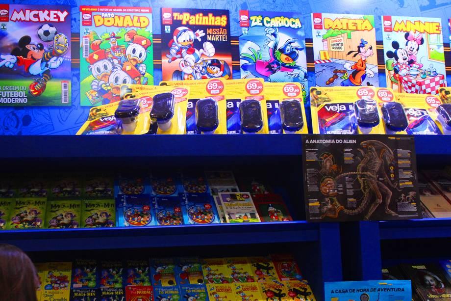 Stand de quadrinhos da Editora Abril na Comic Con Experience, realizada na São Paulo Expo, zona sul da capital paulista - 02/12/2016