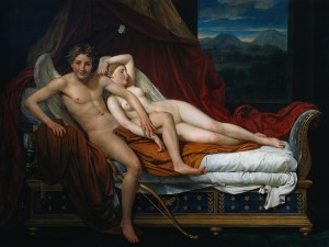 'Eros e Psiquê' (1817), de Jacques-Louis David