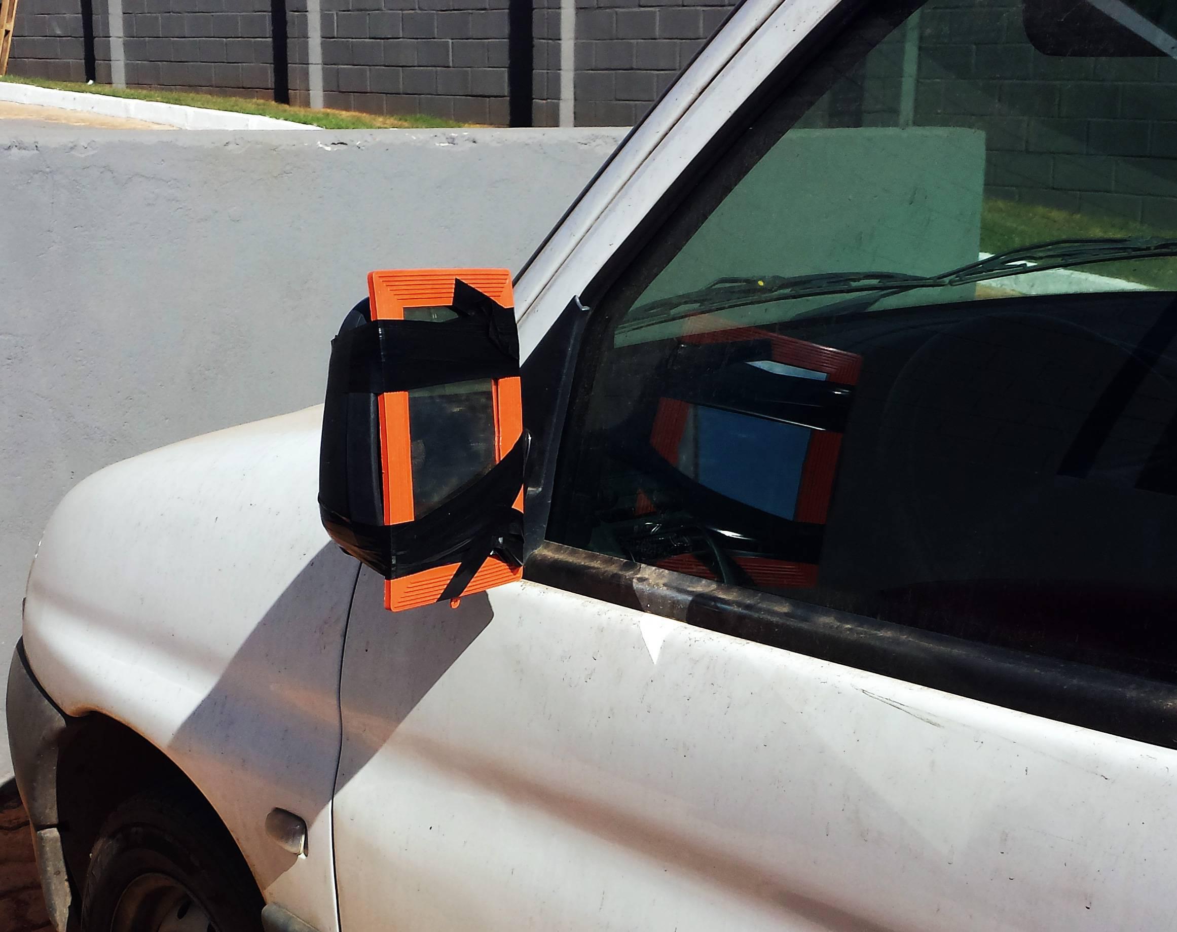 espelho retrovisor gambiarra