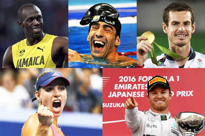 As personalidades do esporte em 2016