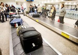 Esteira no aeroporto de Cumbica: menos malas gordas