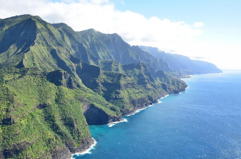 As montanhas de Ko'olau, em Oahu, no Havaí