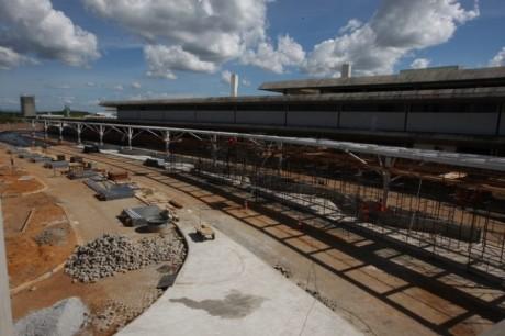Obras no aeroporto de Confins, em Belo Horizonte