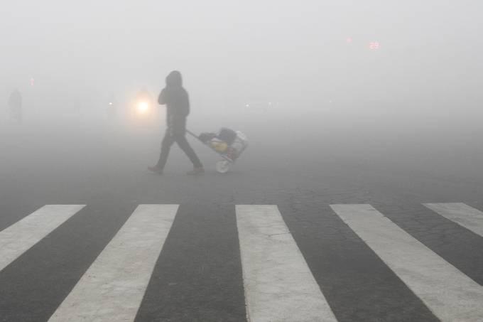 Imagens do dia – Poluição na China
