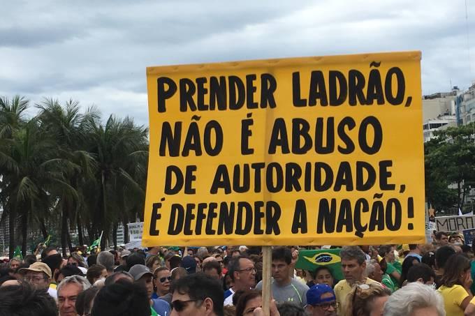 Cartaz em protesto de 4/12/2016
