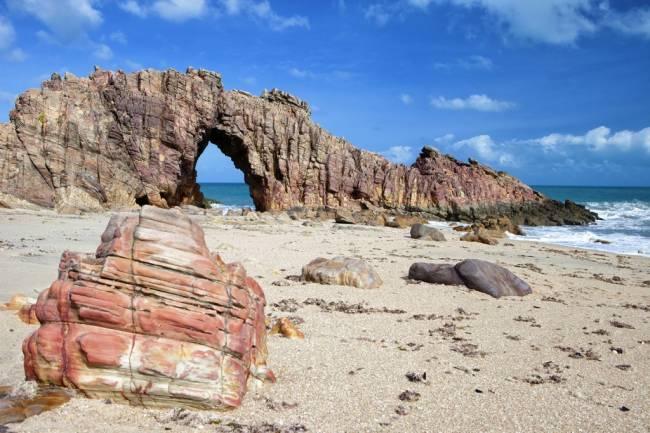 A Pedra Furada, em Jericoacoara