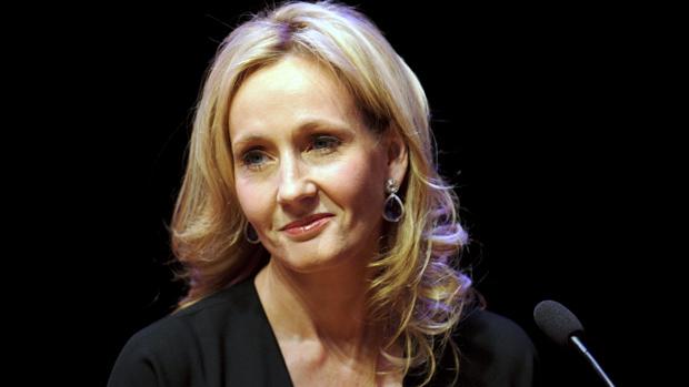 A escritora J.K. Rowling