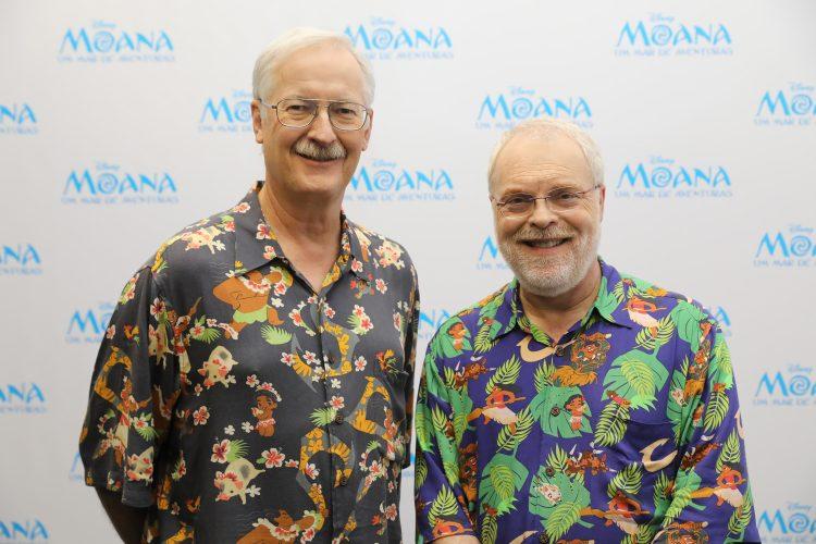 John Musker e Ron Clementes, diretores de 'Moana: Um Mar de Aventuras' na Comic Con Experience 2016 em São Paulo (Foto: Marcos Amaral/ Disney)