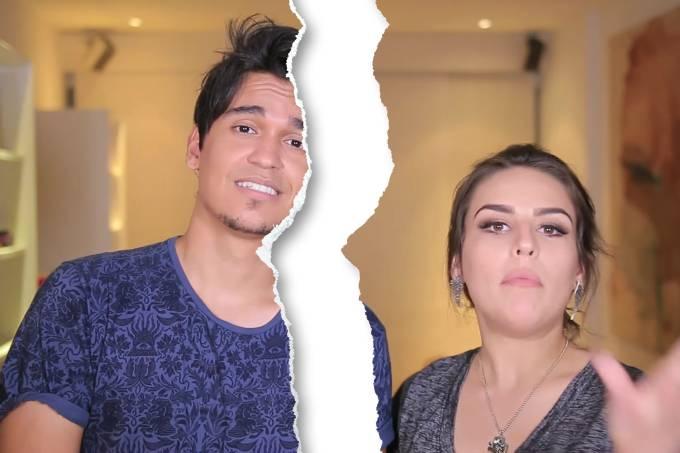 A youtuber Kéfera com seu ex-namorado Gustavo Stockler