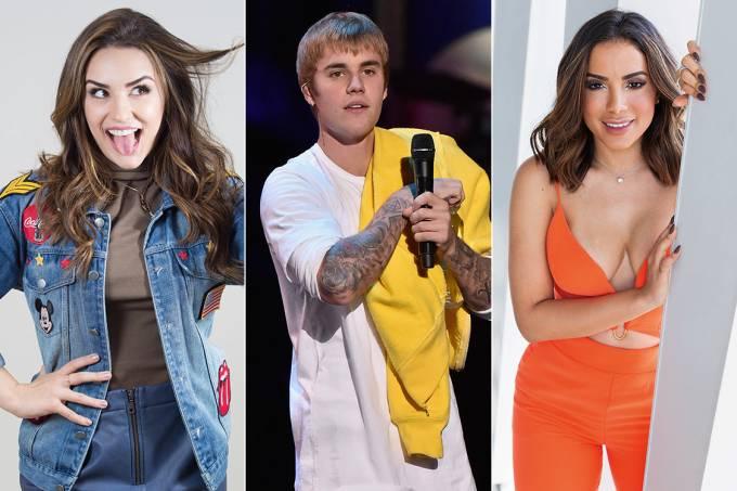 Kéfera, Justin Bieber e Anitta