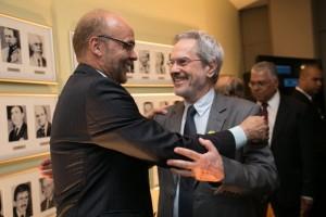 Costa e o secretário-geral da OEI, Paulo Speller