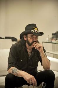 Lemmy Kilmmister, 65, l'der da banda Motorhead, na Via Funchal, em S‹o Paulo, s‡bado, 16 de abril de 2011.