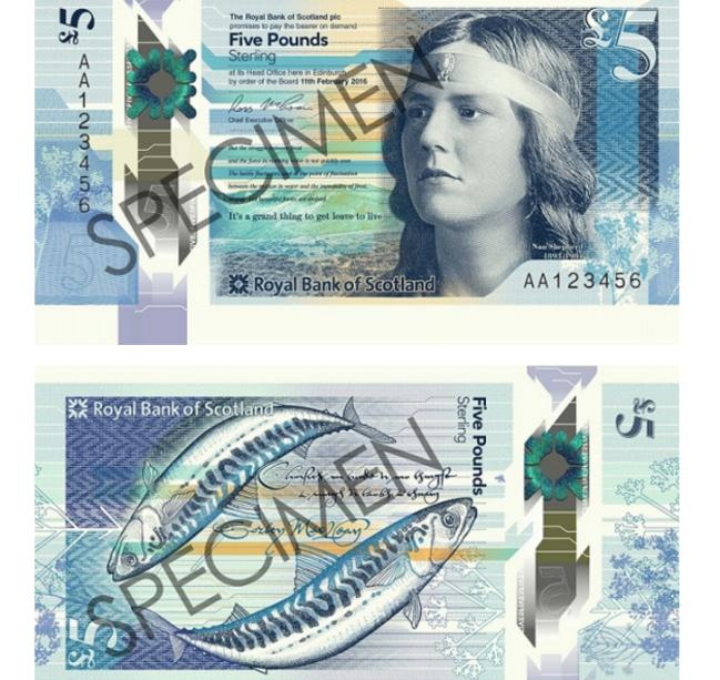 Nota de 5 libras escocesas também concorre ao 'Oscar das Moedas'