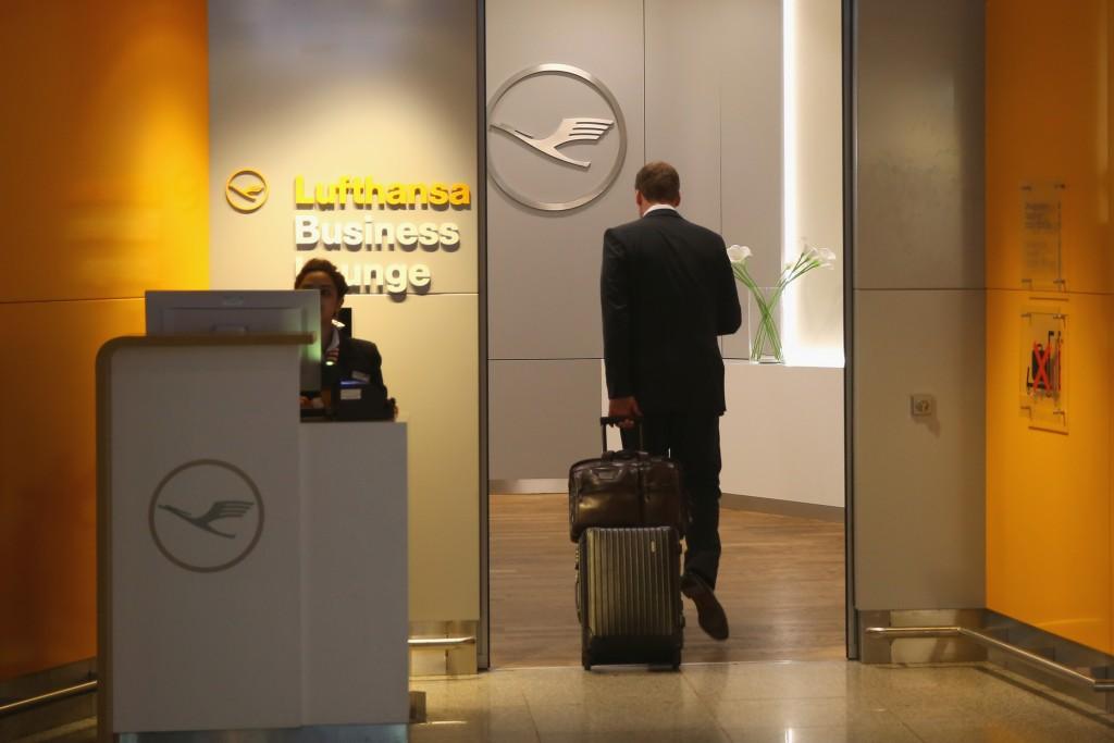 Lounge da Lufhtansa em Frankfurt (Alexander Hassenstein/Getty Images)