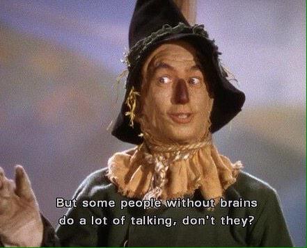 Mágico de Oz pessoas sem cérebro