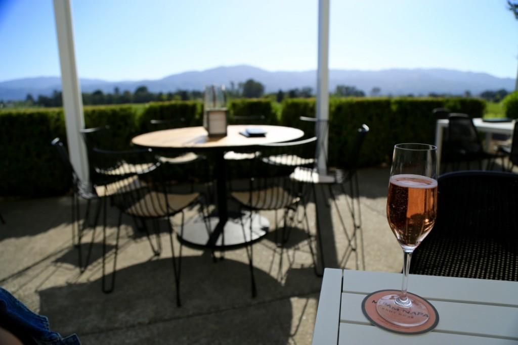 Meu champanhe rosé na Mumm