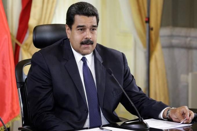 O presidente da Venezuela, Nicolás Maduro, durante evento no Palácio Miraflores, Caracas