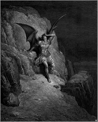 Ilustração de Gustave Doré para 'Paraíso perdido': 'A queda de Satã'