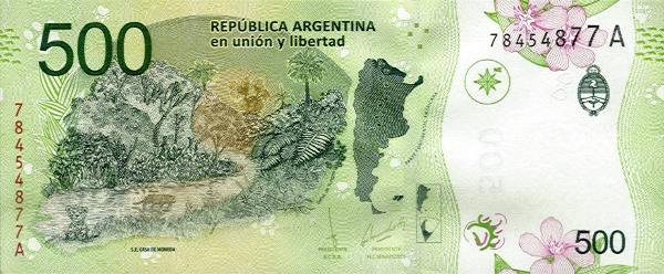 <span>A cédula de </span><span>500 pesos</span><span>, representante da</span><span>Argentina </span><span>no 'Oscar das Moedas'</span>