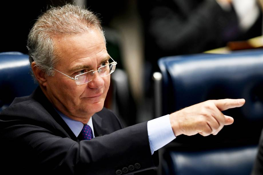 O presidente do Senado, Renan Calheiros, comanda sessão extraordinária de discussão da PEC 55, do Teto dos Gastos, no plenário do Senado Federal - 08/12/2016