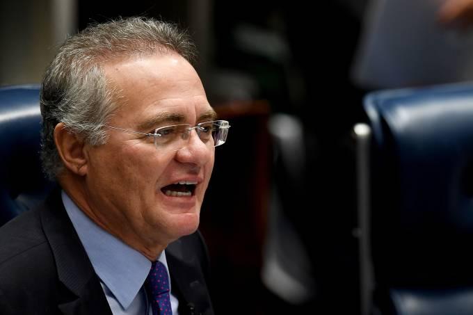 O presidente do Senado, Renan Calheiros