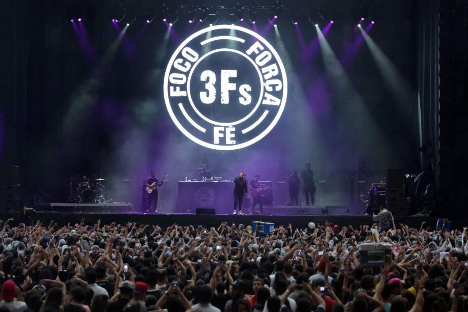Projota se apresenta durante o Festival Z no Allianz Parque em São Paulo