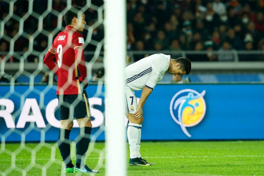 Cristiano Ronaldo durante a partida entre Real Madrid e Kashima Antlers pela final do Mundial de Clubes da Fifa, em Yokohama, no Japão - 18/12/2016