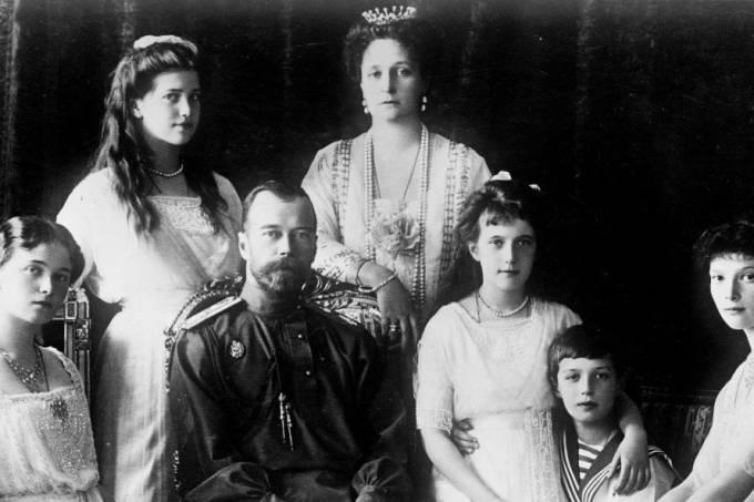 A família real russa, os Romanov