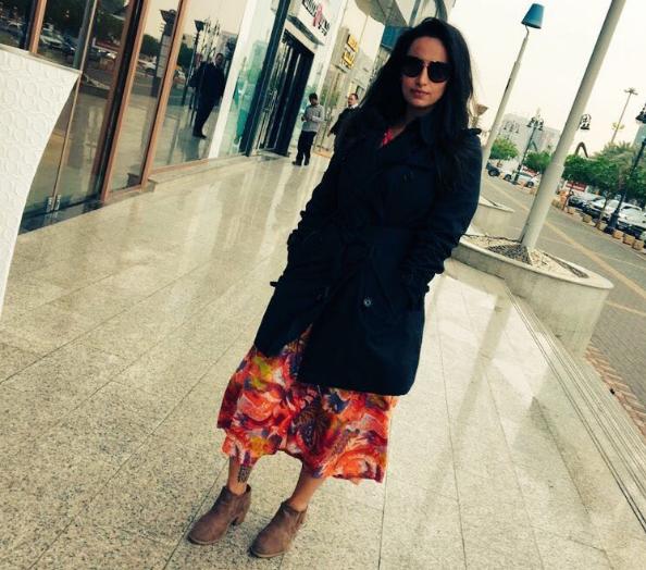 Malak al Shehri, presa por andar em público sem véu islâmico na Arábia Saudita