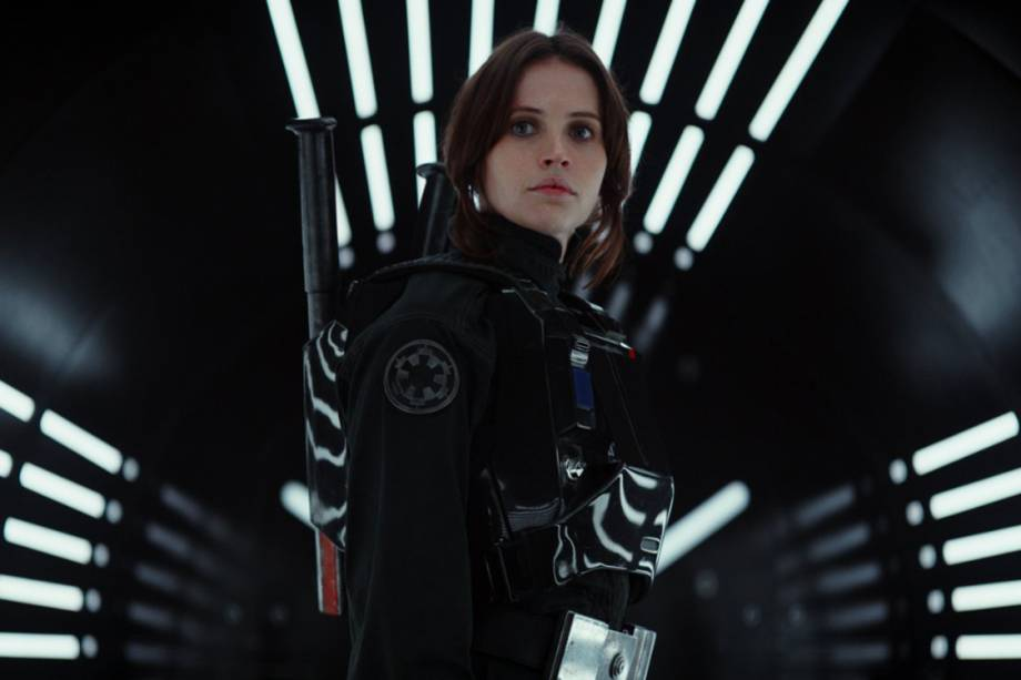 Felicity Jones interpreta Jyn Erso no filme 'Star Wars: Rogue One'