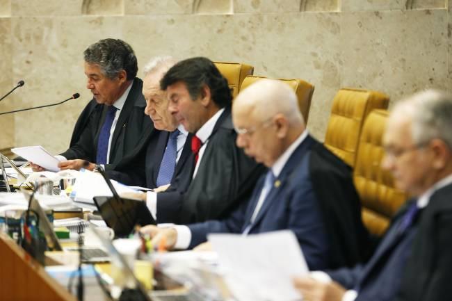 O ministro Marco Aurelio Mello durante sessão no STF