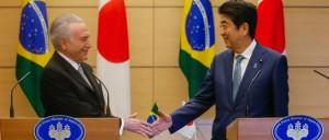 Temer e o primeiro-ministro do Japão, Shinzo Abe