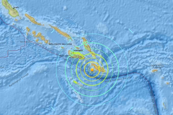 Terremoto de 7.8 nas Ilhas Salomão