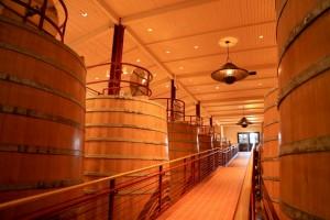 Os barris usados na vinícola Robert Mondavi