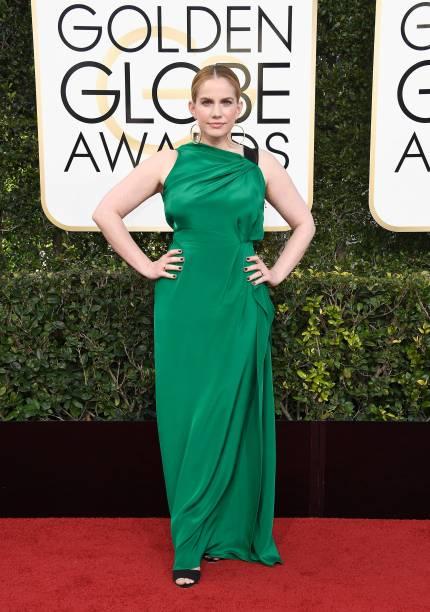 A atriz Anna Chlumsky chega para o Globo de Ouro 2017, em Los Angeles
