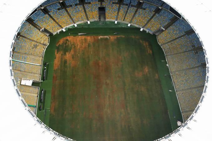 Vista aérea do Estádio do Maracanã