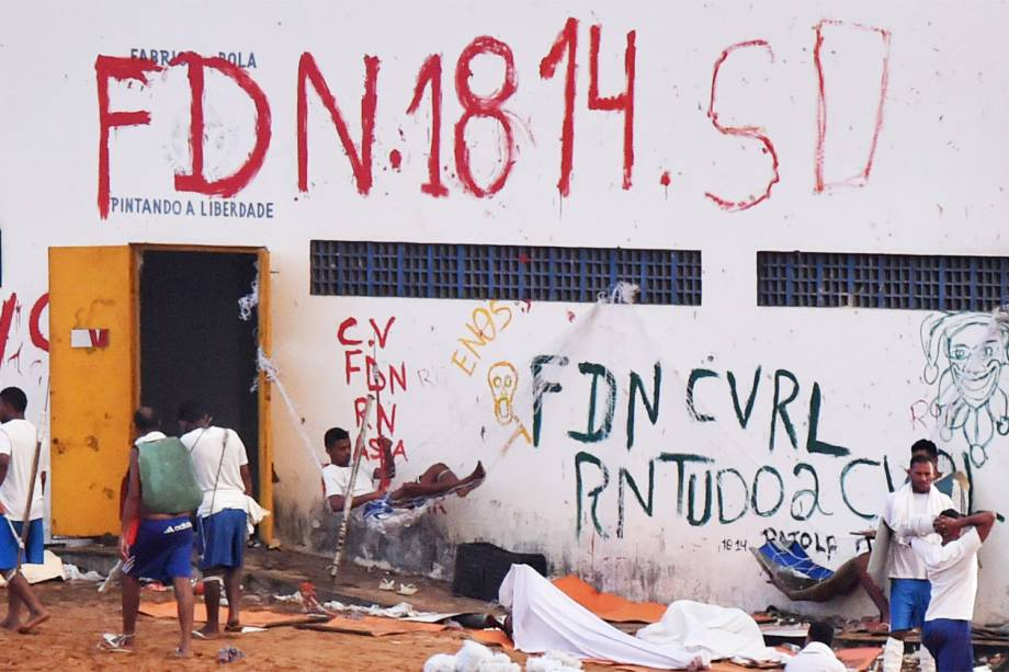 Quinto dia de rebelião na Penitenciária Estadual de Alcaçuz, na cidade de Nísia Floresta (RN) - 18/01/2017