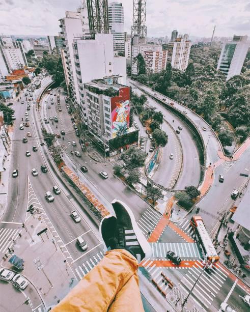 Vista da Avenida da Consolação e Avenida Dr. Arnaldo
