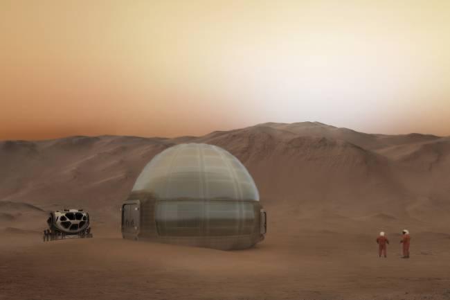 Casas de gelo em Marte