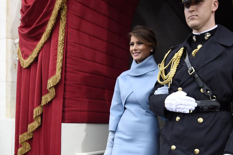 Melania Trump chega para  a cerimônia de posse do presidente eleito dos Estados Unidos, Donal Trump, no Capitólio - 20/01/2017