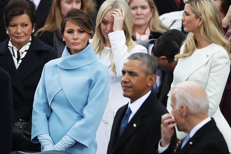 A primeira-dama Melanie Trump, durante a cerimônia de posse do presidente eleito dos Estados Unidos, Donald Trump, no Capitólio - 20/01/2017