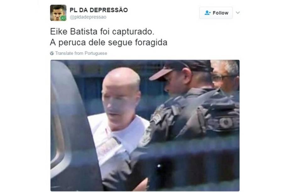 Memes sobre a prisão de Eike Batista