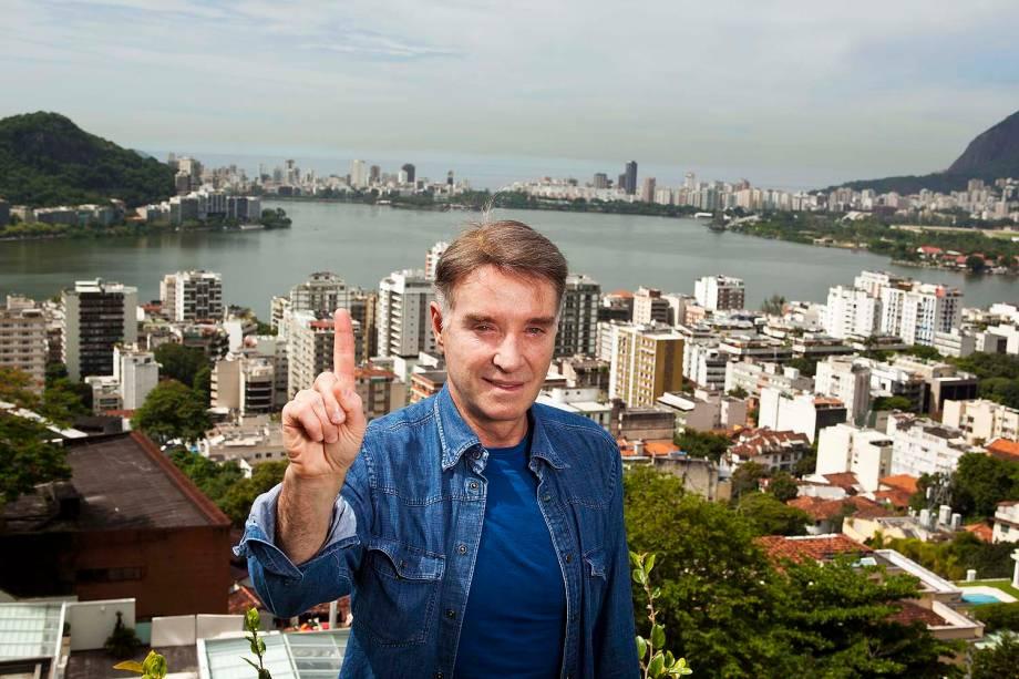 Eike Batista em sua casa no Rio de Janeiro