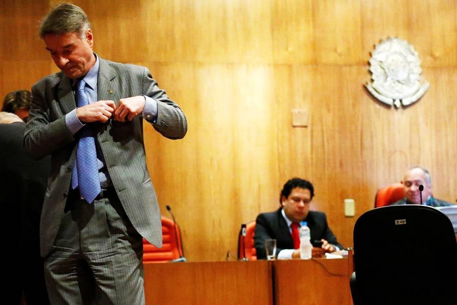 Eike Batista durante julgamento no Rio de Janeiro - 18/11/2014