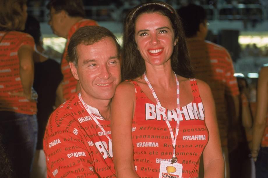 Luma de Oliveira e Eike Batista, no Camarote da Brahma, do Sambódromo -  28 /0 2 /2.001