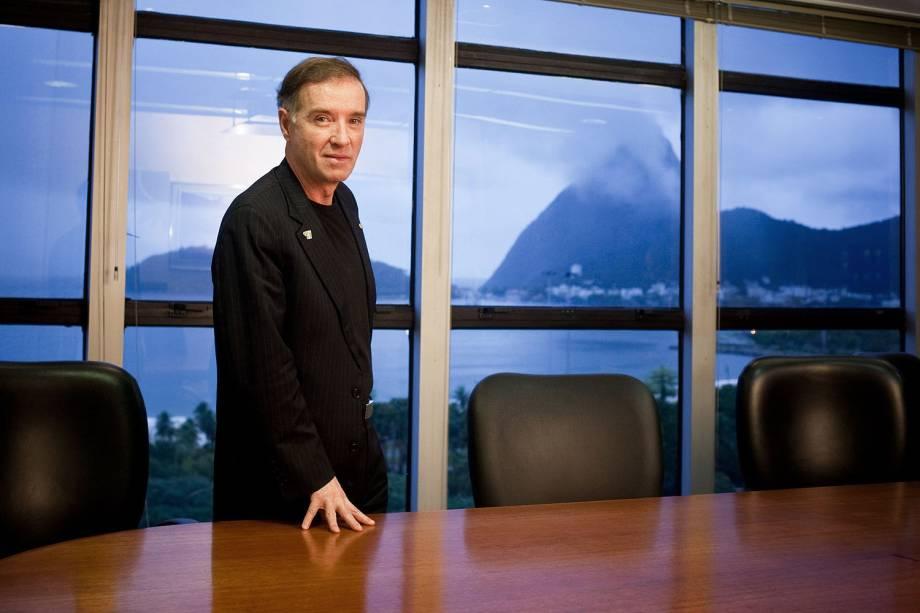 O empresário Eike Batista em seu escritório na Praia do Flamengo, no Rio de Janeiro (RJ)