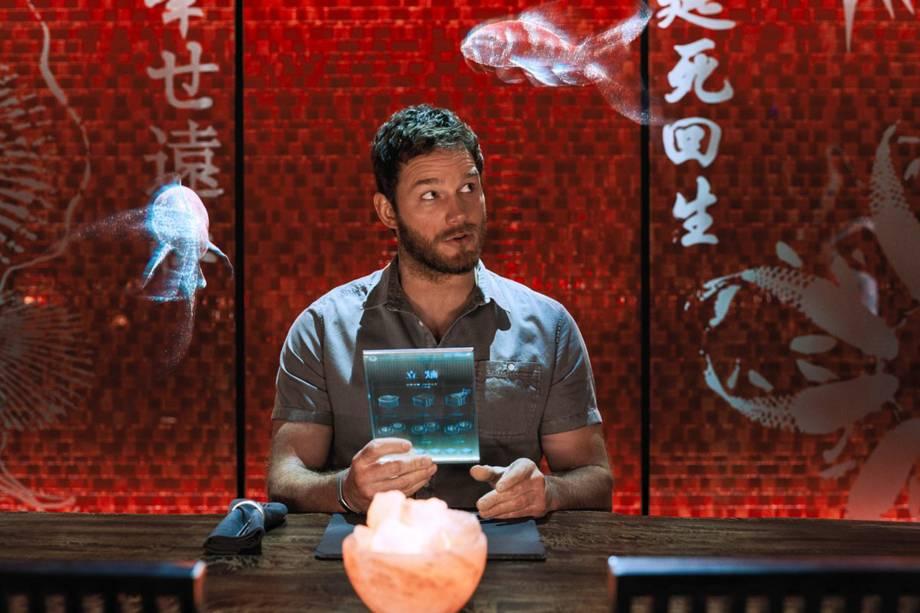 Chris Pratt no filme'Passageiros'